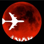 Bora Bora red moon real moon