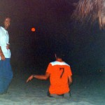 Red moon at Bora Bora 1997