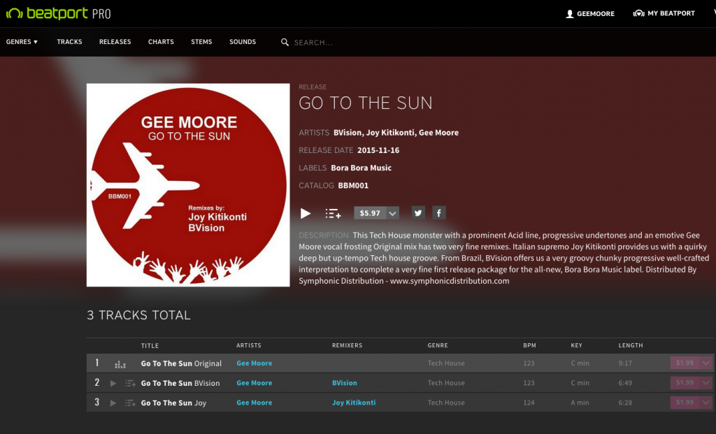 Go to the sun beatport pic